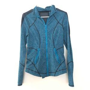 Zella Small Zip Up Long Sleeve Thumbholes Sweater